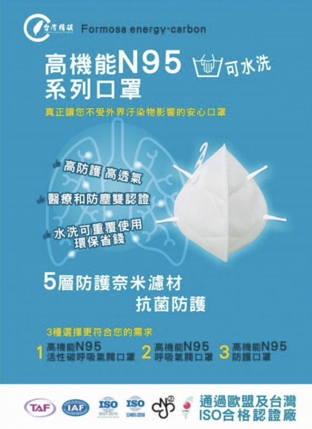 C型折疊式N95口罩 1
